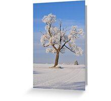 Snow Greeting Card