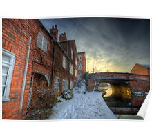 Snowy Canal Footpath Poster