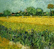Vincent Van Gogh - Field with Flowers near Arles by lifetree