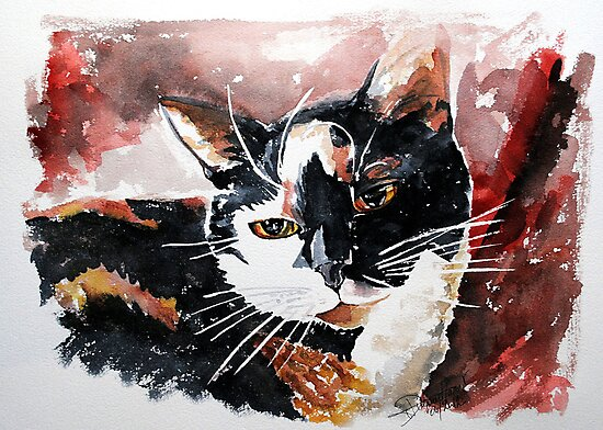 Tina, featured in Art Universe, Group-Gallery of Art and Photography, Cat's Pajamas by Françoise  Dugourd-Caput