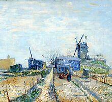 Vincent Van Gogh - Montmartre mills and vegetable gardens by lifetree