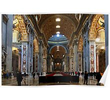 St Peter`s Rome - The Nave Poster