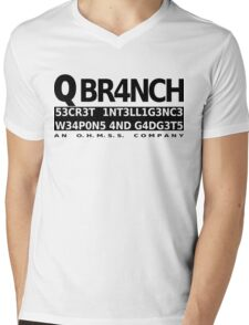 Q Branch Mens V-Neck T-Shirt