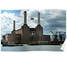 Battersea Power Station( pihk floyd pig) Poster