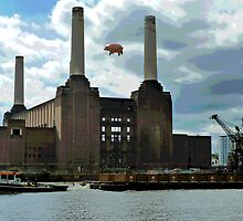 Battersea Power Station( pihk floyd pig) no.4 by Tim Healy