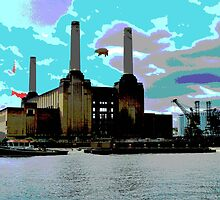 Battersea Power Station( pihk floyd pig) no.5 by Tim Healy