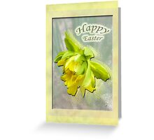Happy Easter Card - Yellow Daffodil Greeting Card