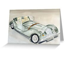 Morgan Sports Car Greeting Card