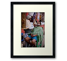 Outdoor Shave Framed Print