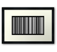 HELLO in Barcode Framed Print