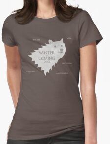 House Doge - Winter Is Coming Womens Fitted T-Shirt