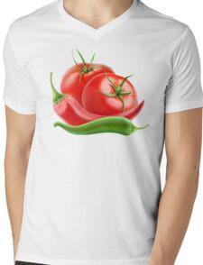 Hot sauce ingredients Mens V-Neck T-Shirt