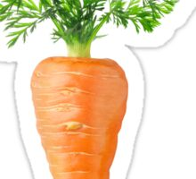 Carrot with big leaves Sticker