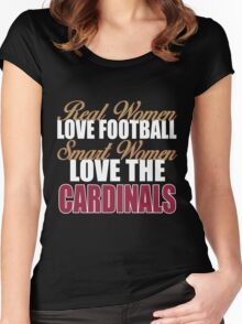 Real Women Love Football Smart Women Love The Cardinals Women's Fitted Scoop T-Shirt