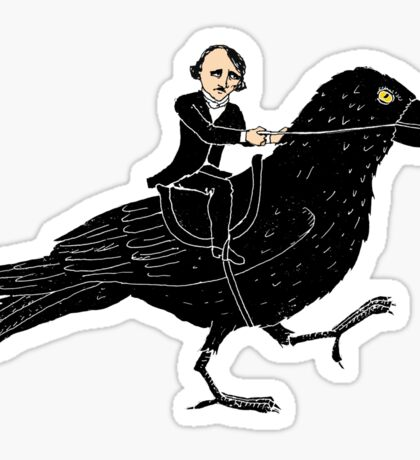 Poe and Raven Sticker