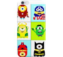 Minions - superhero mashup iPhone Case/Skin