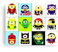Minions - superhero mashup Canvas Print