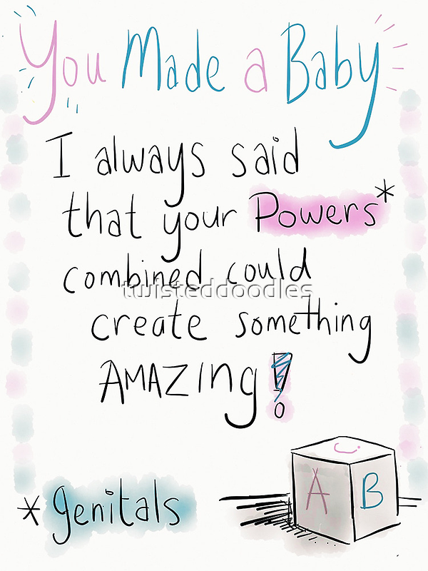 A new baby card!  by twisteddoodles