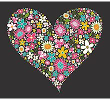 Spring Flowers Valentine Heart 2  Photographic Print