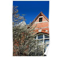 Blossom and Building  ( Orton Effect) Poster