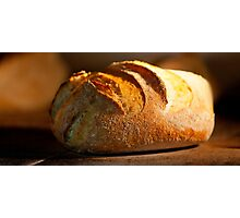 Freshly baked loaf of bread at a bakery.  Photographic Print