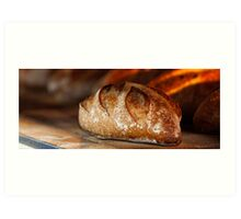Freshly baked loaf of bread at a bakery.  Art Print