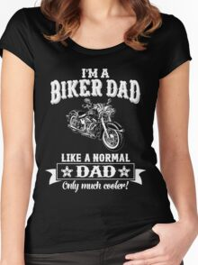 I'm a Biker Dad , Like Normal Dad , Only Cooler . T Shirts , Mugs , Phone Cases , Duvets and More Women's Fitted Scoop T-Shirt
