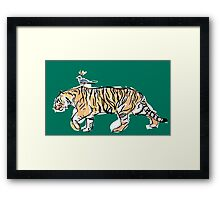 The King and His Tiger Framed Print