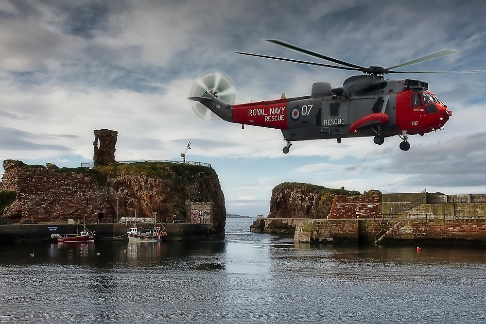 Hovering over Dunbar Harbour by Sam Smith