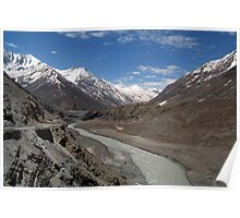 Chandra River Lahaul Valley Poster