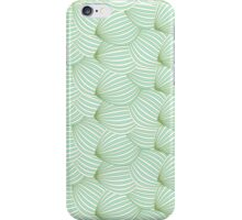 Vintage trendy green cream watermelon pattern  iPhone Case/Skin