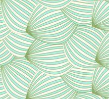 Vintage trendy green cream watermelon pattern  Sticker