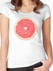 Slice of grapefruit Women's Fitted Scoop T-Shirt