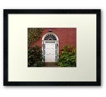 The Regency Doorway Framed Print