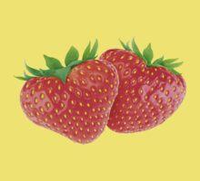 Pair of heart-shaped strawberries Kids Tee