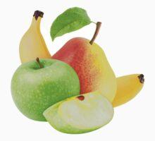 Apple, pear and banana One Piece - Short Sleeve