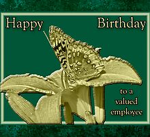 Employee Birthday Card - Great Spangled Fritillary Butterfly by MotherNature