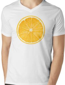 Slice of orange fruit Mens V-Neck T-Shirt