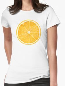 Slice of orange fruit Womens Fitted T-Shirt
