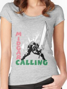 Midgar Calling Women's Fitted Scoop T-Shirt