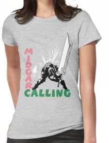 Midgar Calling Womens Fitted T-Shirt