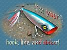 Romantic Love Card - Saltwater Fishing Lure - Blue Warrior by MotherNature