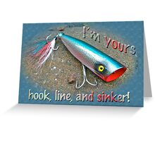 Romantic Love Card - Saltwater Fishing Lure - Blue Warrior Greeting Card