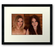 Annabel and Kate Framed Print