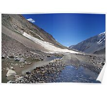 Puddle on the Road in Lahaul Valley Poster