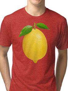 Lemon with leaves Tri-blend T-Shirt