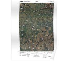 USGS Topo Map Washington State WA Poland Butte 20110425 TM Poster