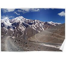 On the Road in Spiti Valley Poster