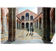 Monastere San Ambrosio - Milano Poster