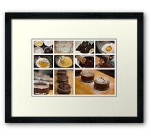 Chocolate Fondant - collage photo recipe Framed Print